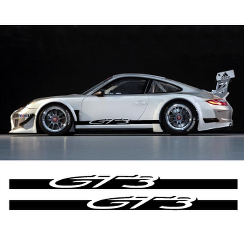 Porsche 911 Gt3 Side Stripes Decals Set
