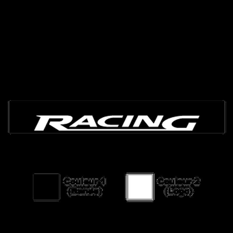 black ford racing logo. ford racing sunstrip sticker black logo