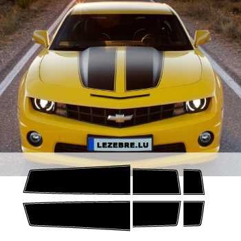 kit stickers bandes chevrolet camaro style transformers capot coffre. Black Bedroom Furniture Sets. Home Design Ideas