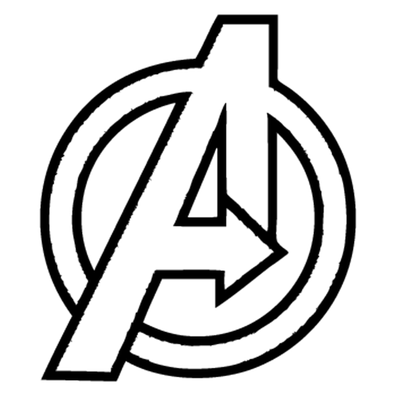 Avengers Symbol Coloring Pages : Avengers logo decal