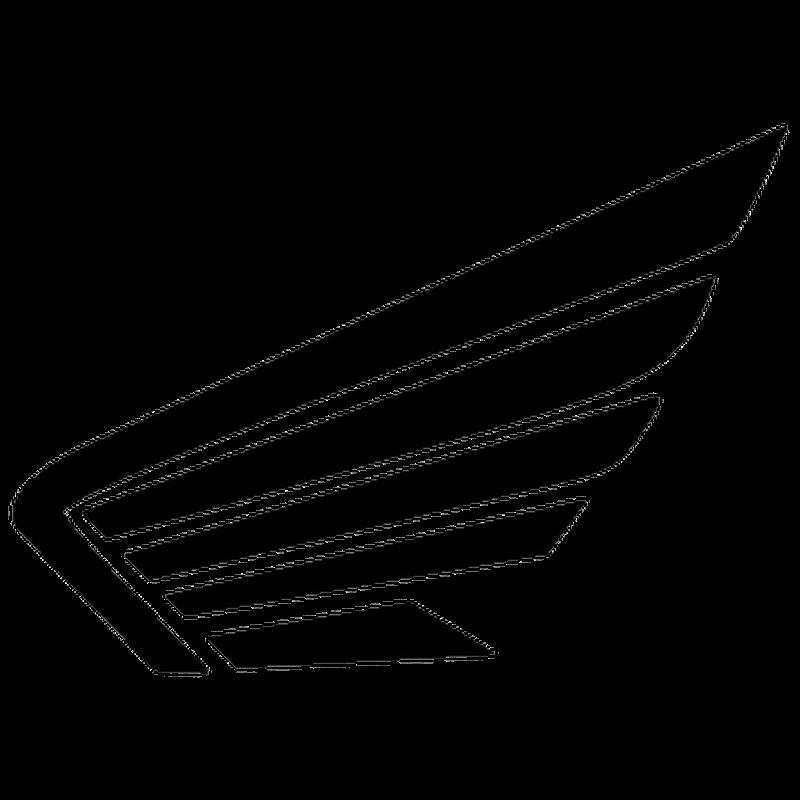 honda wings logo decal. Black Bedroom Furniture Sets. Home Design Ideas