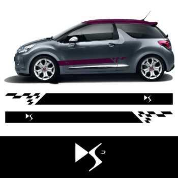 car side citro n ds3 stripes stickers set. Black Bedroom Furniture Sets. Home Design Ideas