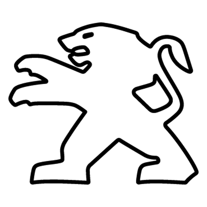 sticker peugeot lion logo contour 2013. Black Bedroom Furniture Sets. Home Design Ideas