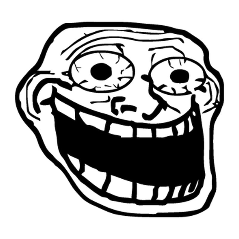 T-shirt humour Troll Face meme Crazy Fou