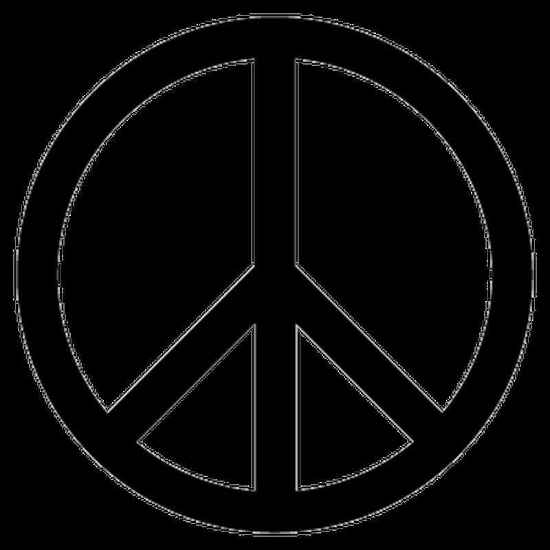 Peace Love Logo Decal