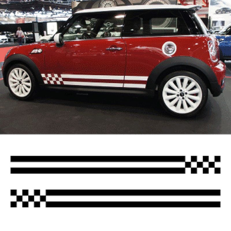 kit stickers bandes mini cooper monte carlo 2 bandes lat rales. Black Bedroom Furniture Sets. Home Design Ideas