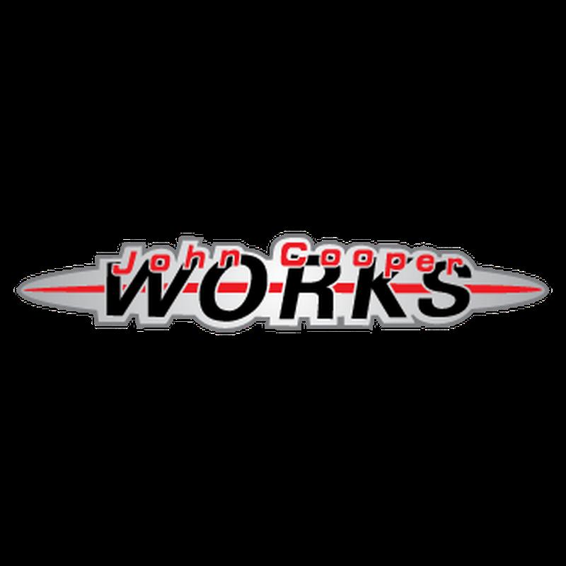 Mini john cooper works logo decal - Film transparent autocollant ...