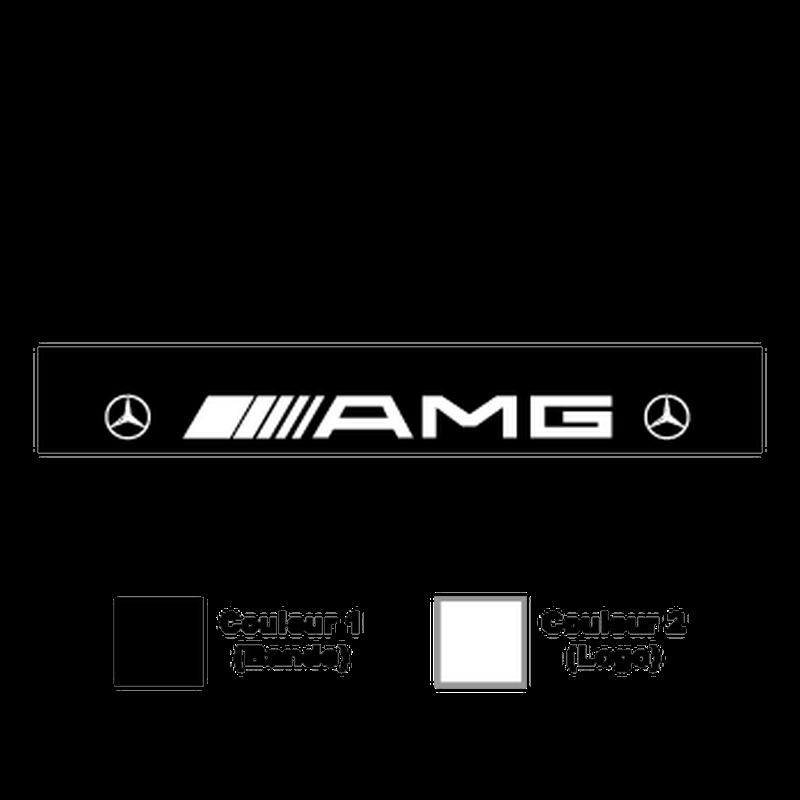 mercedes amg logo sunstrip sticker. Black Bedroom Furniture Sets. Home Design Ideas
