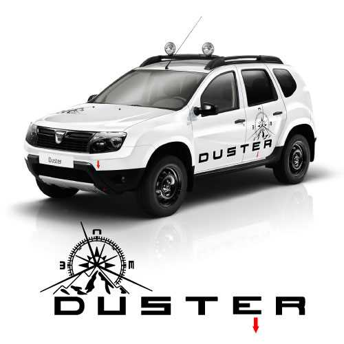 Dacia duster decoration decals complet set for Autocollant decoration
