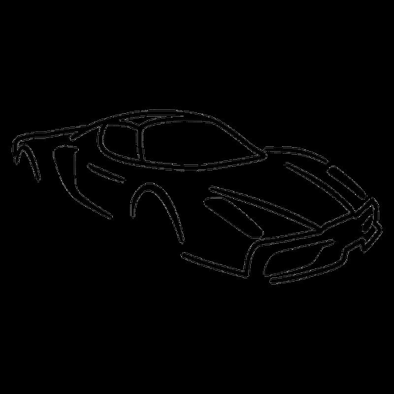 Ferrari Enzo Silhouette Decal
