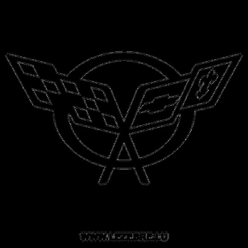 chevrolet corvette logo decal 2. Black Bedroom Furniture Sets. Home Design Ideas
