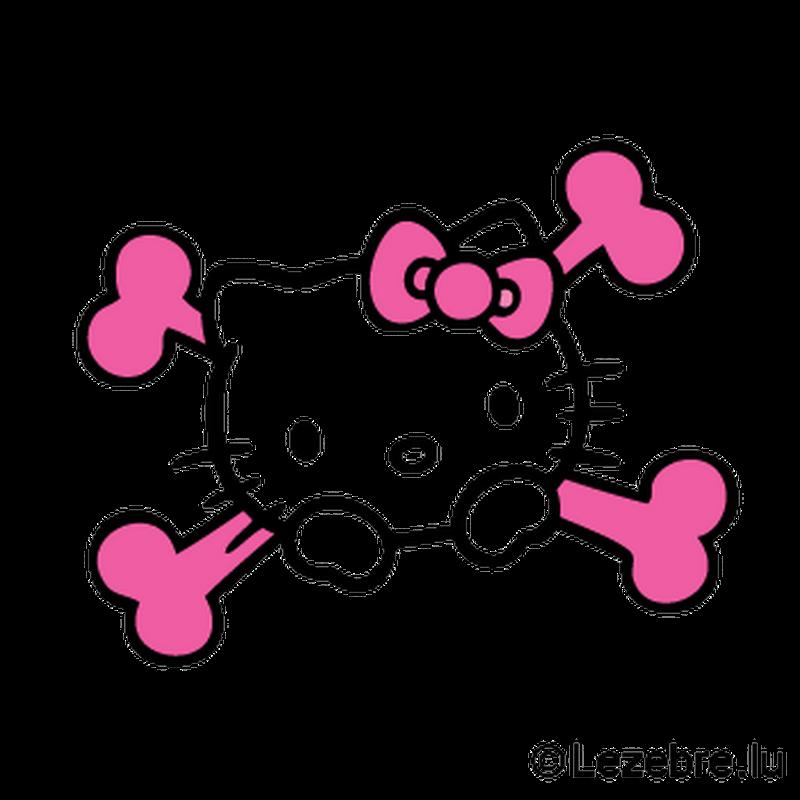 Tribal Hello Kitty: Sticker Hello Kitty Tete De Mort