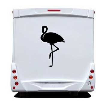 flamingo camping car decal. Black Bedroom Furniture Sets. Home Design Ideas