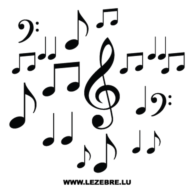 kit sticker deco notes de musique. Black Bedroom Furniture Sets. Home Design Ideas