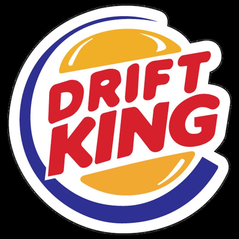 JDM Drift King parody Burger King Decal