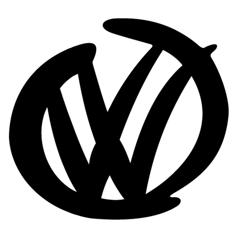 Volkswagen VW Logo Signature Decal