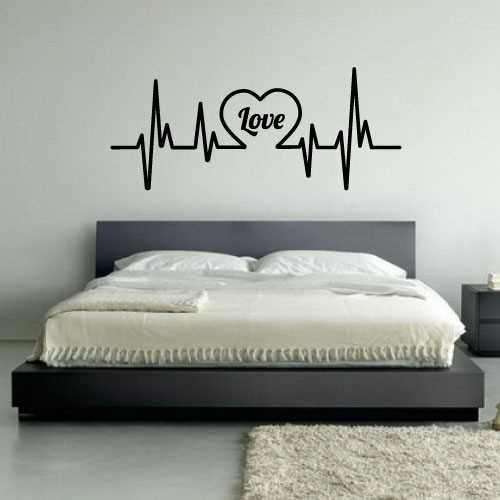 sticker amour love coeur pulsations. Black Bedroom Furniture Sets. Home Design Ideas