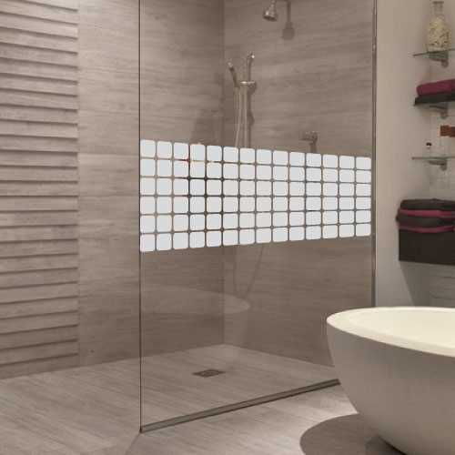 Sticker porte de douche carr s design for Miroir pour douche