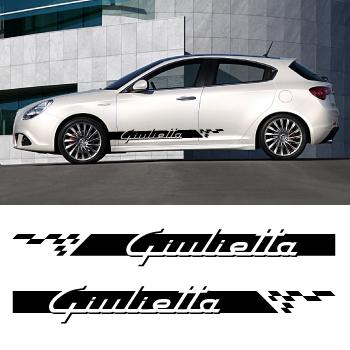 kit stickers bandes bas de caisse alfa romeo giulietta. Black Bedroom Furniture Sets. Home Design Ideas