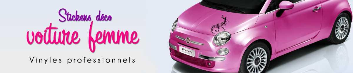 Stickers décoration voiture femme