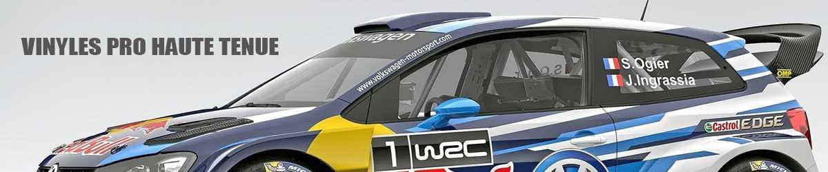 Sticker rallye pilote copilote pour voiture