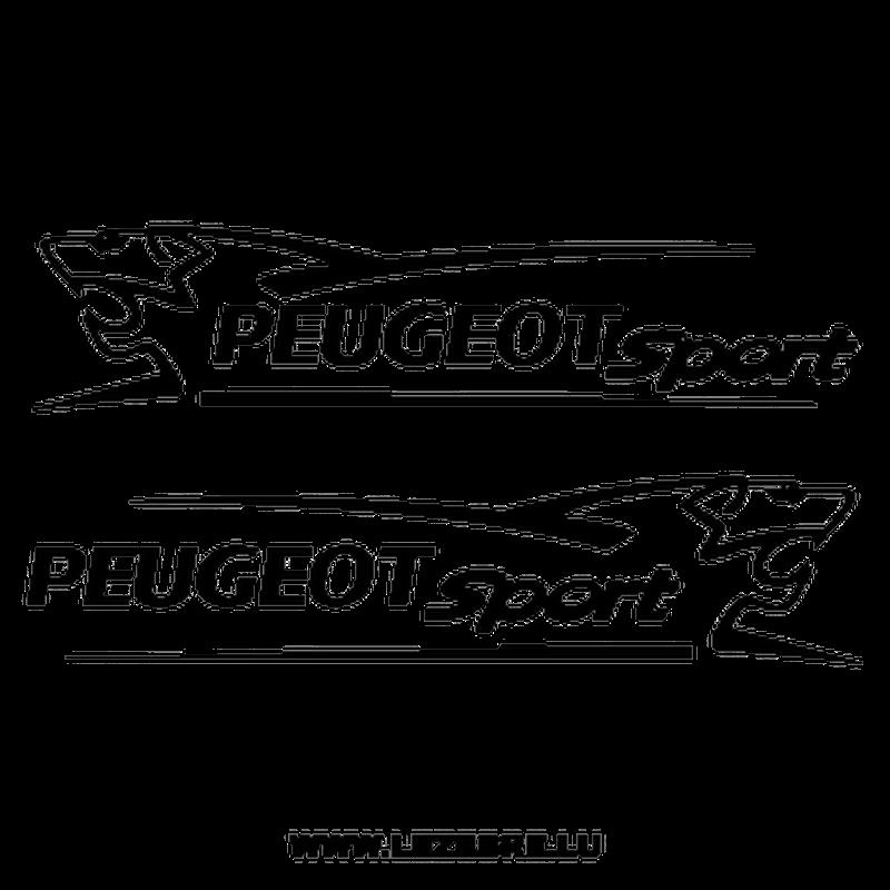 Set of 2 Peugeot Sport Lion decals