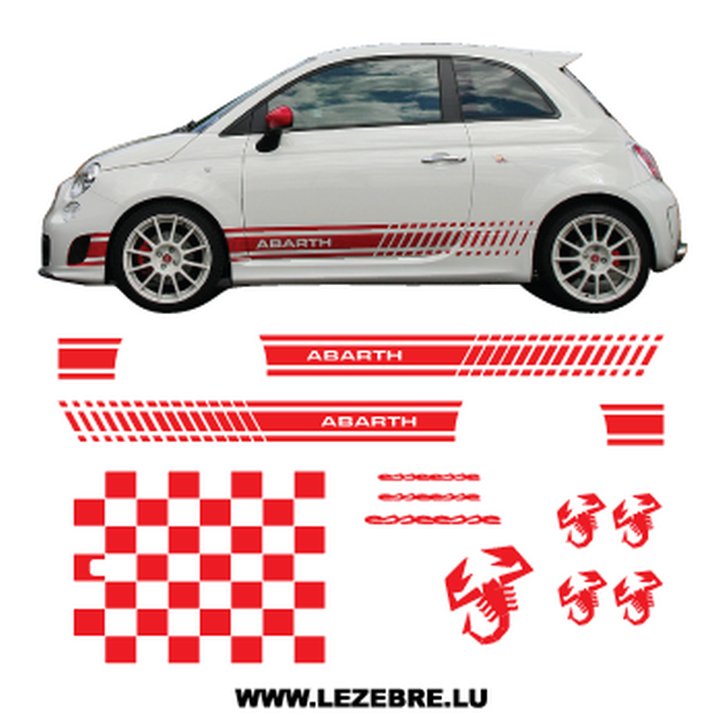 kit stickers fiat 500 abarth esseesse long. Black Bedroom Furniture Sets. Home Design Ideas