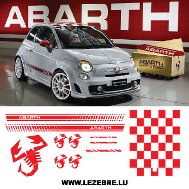 kit stickers fiat 500 abarth esseesse. Black Bedroom Furniture Sets. Home Design Ideas