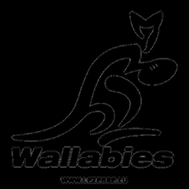 > Sticker Australie Wallabies Rugby Logo