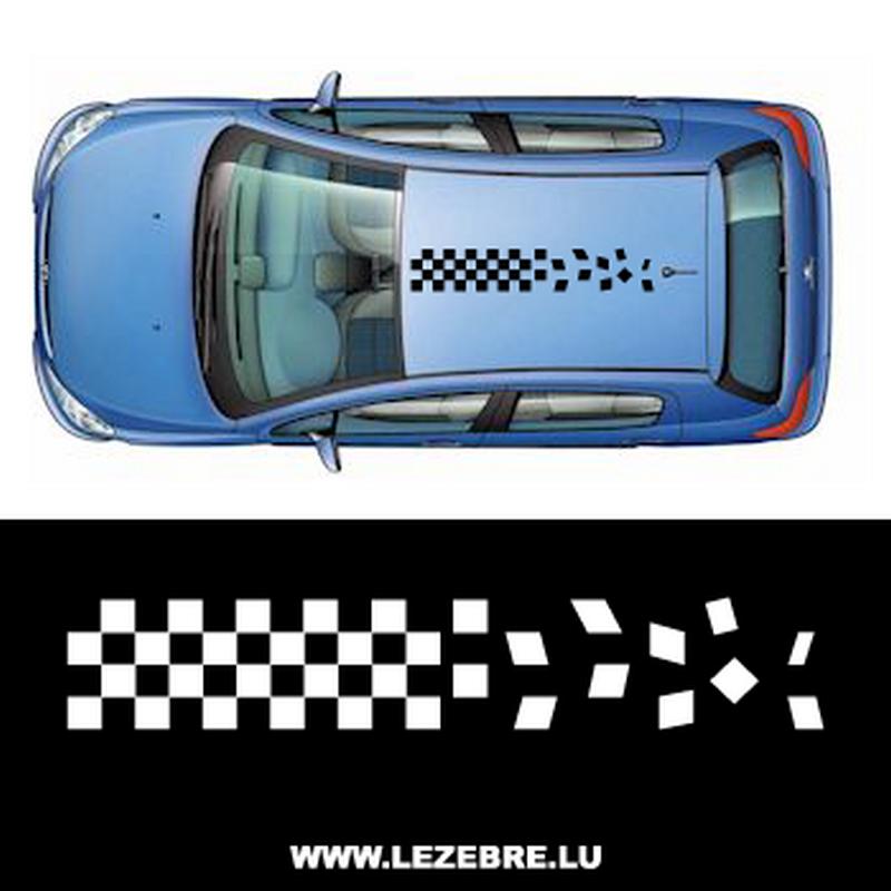 Sticker Bande Toit Auto Racing