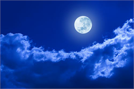 Sky With Clouds And Moon Decoration Decal