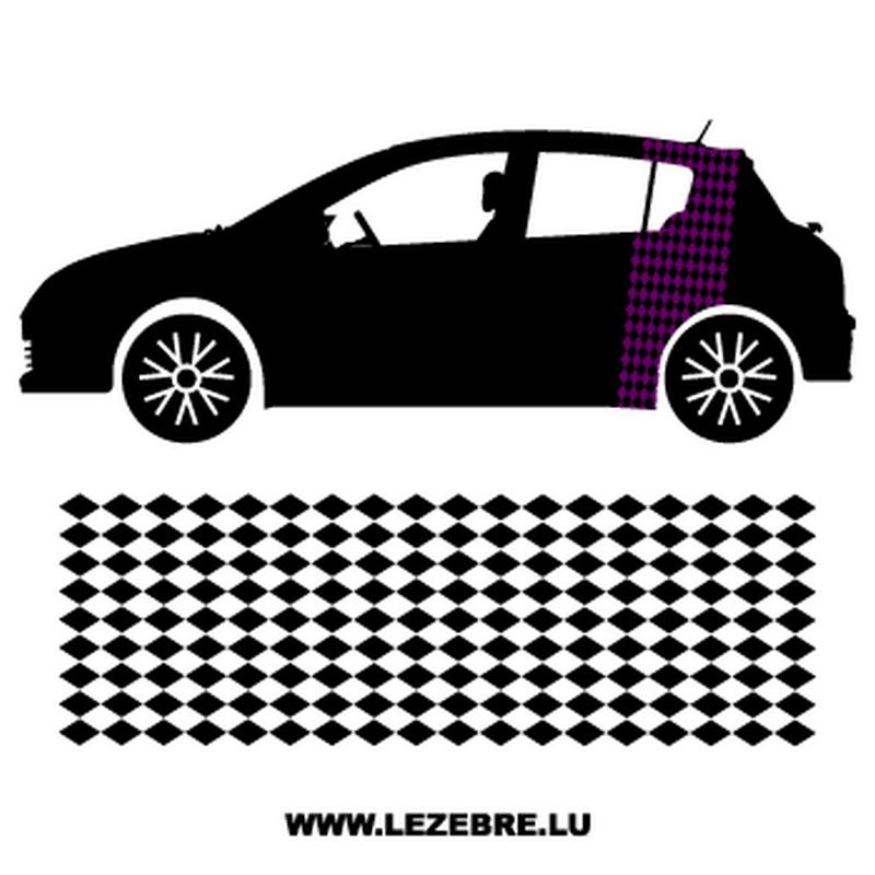 Rhombus Car Side Stripes Decals Set