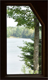 Window on Lake Decoration Decal