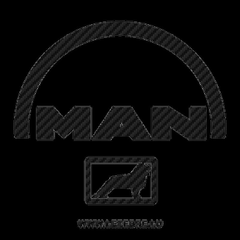 Man logo Carbon Decal