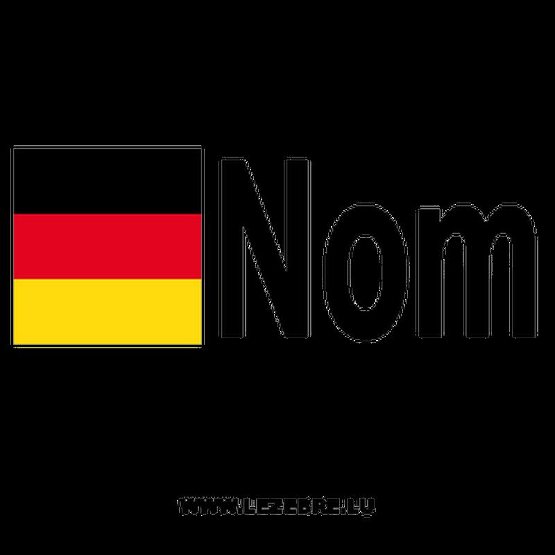 2x German flag pilot name custom decals