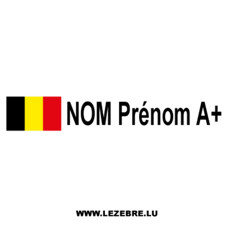 3x Belgian Flag Rally Pilot Custom Decals