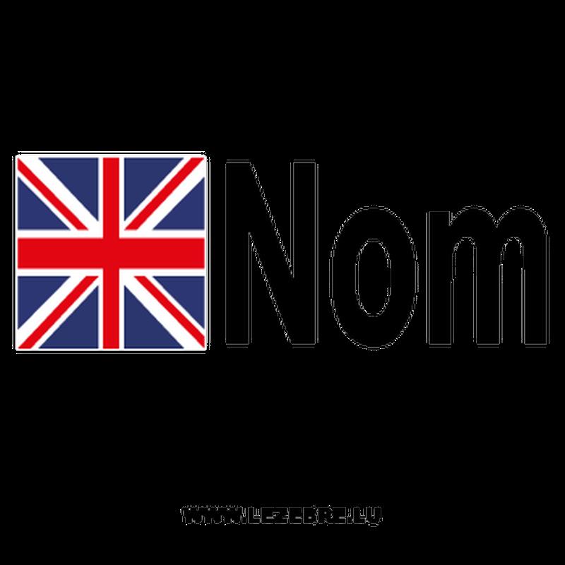 2x British flag pilot name custom decals