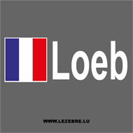 2x French Flag Rally Pilot Loeb Custom Decals