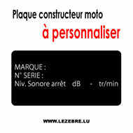 Decal Plaque Constructeur Moto