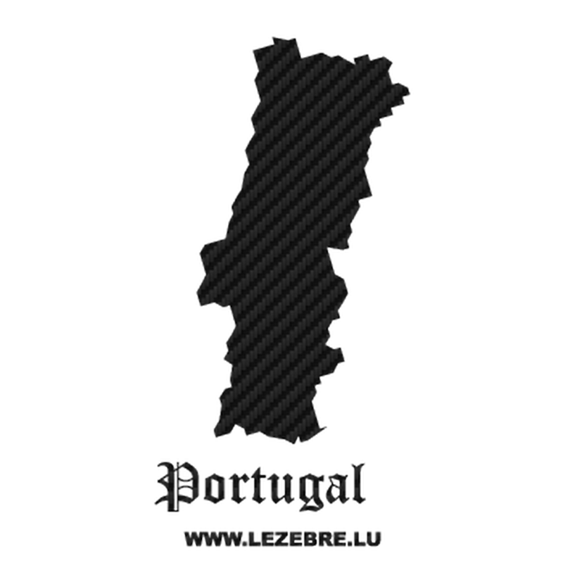 Portugal Silhouette Carbon Decal