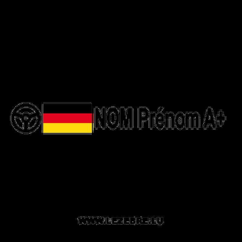 2x German flag steering wheel pilot custom decals