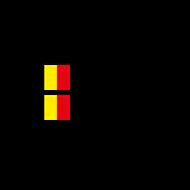 2x Belgian Flag Steering Wheel Pilot / Co-pilot Custom Decals