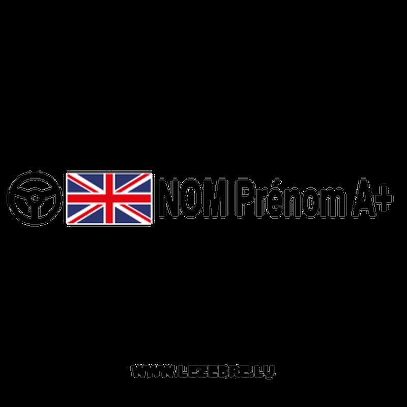 2x British Flag Steering Wheel Pilot Custom Decals
