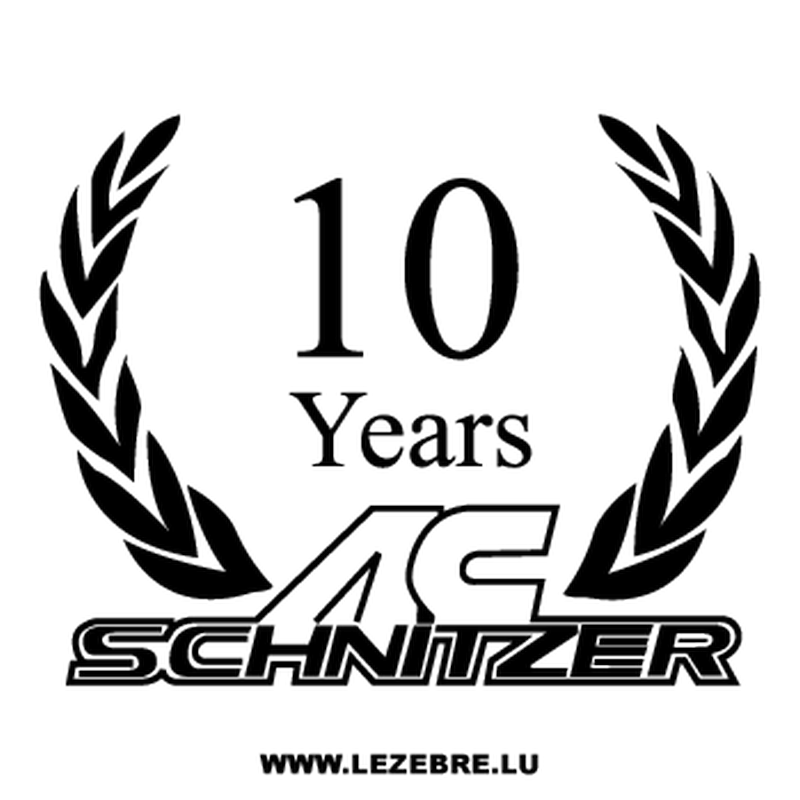 AC Schnitzer 10 Years Decal