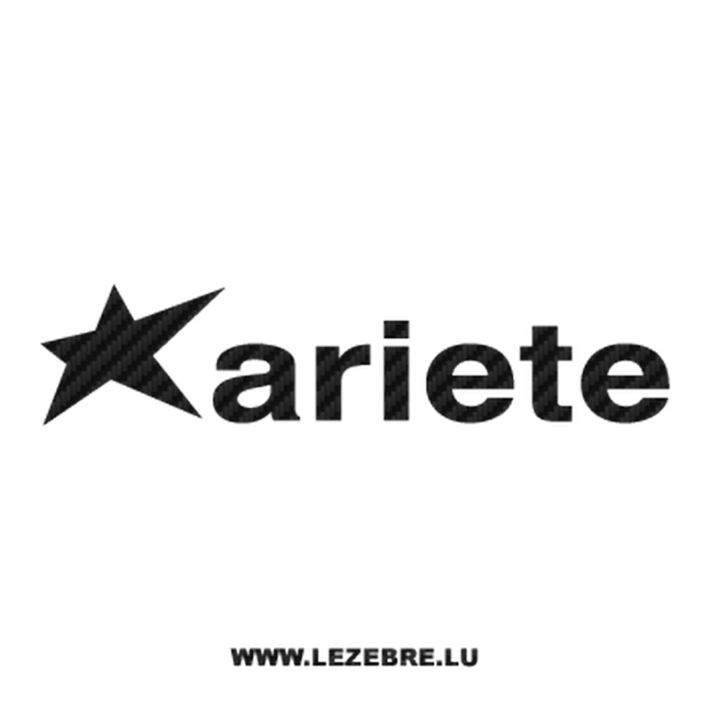 Ariete moto logo Carbon Decal 2