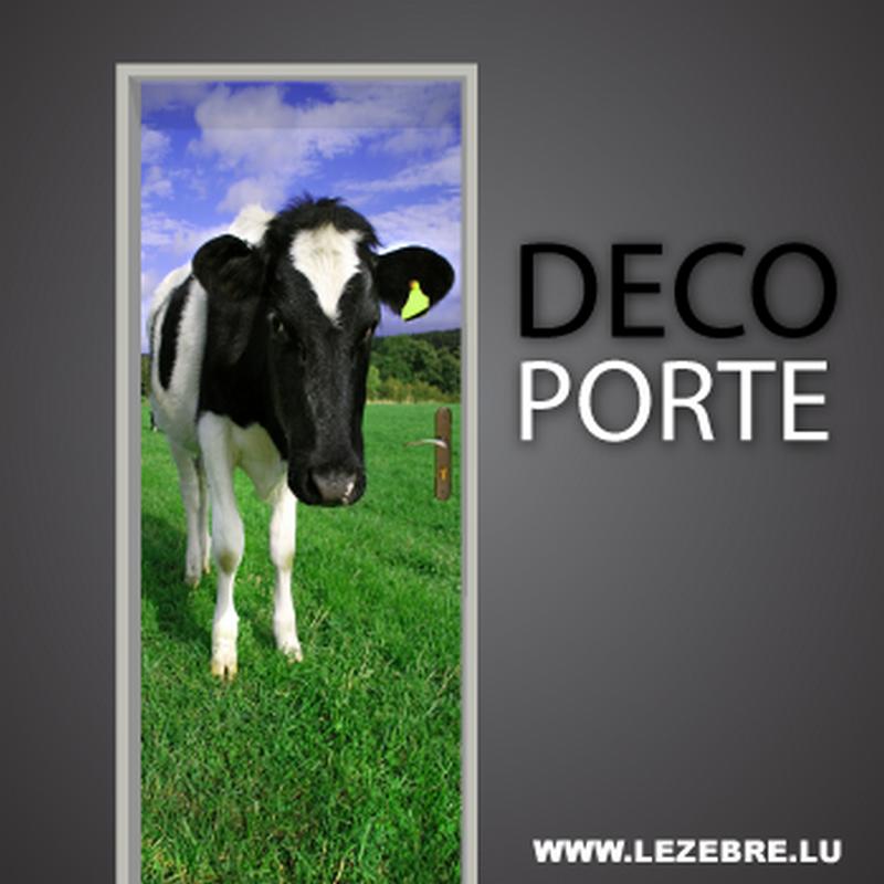 Cow door decal