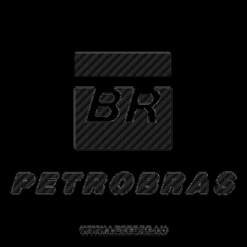 Petrobas logo Carbon Decal
