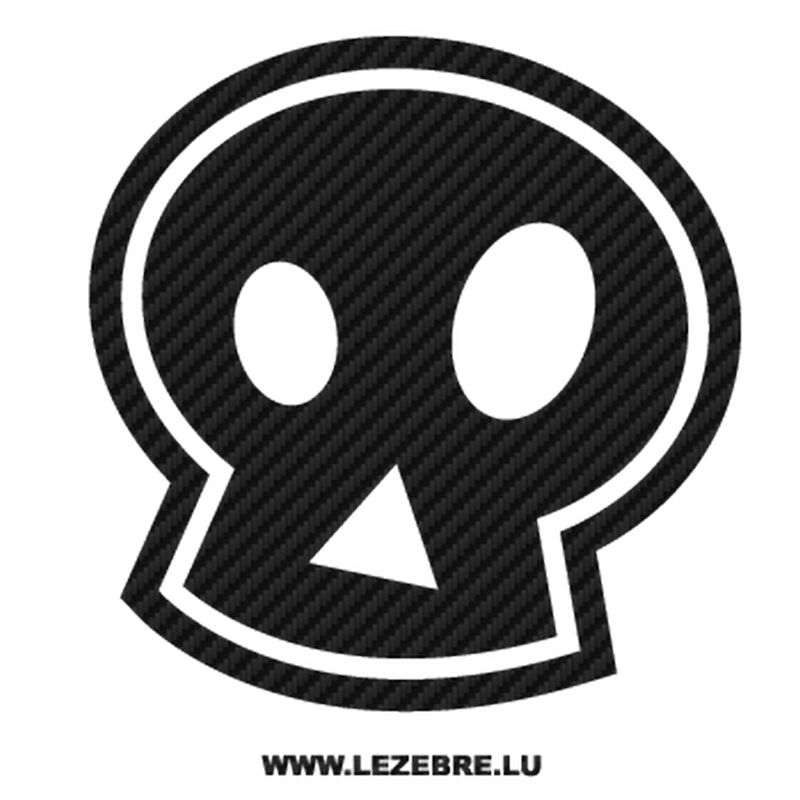 Emo skull Carbon Decal