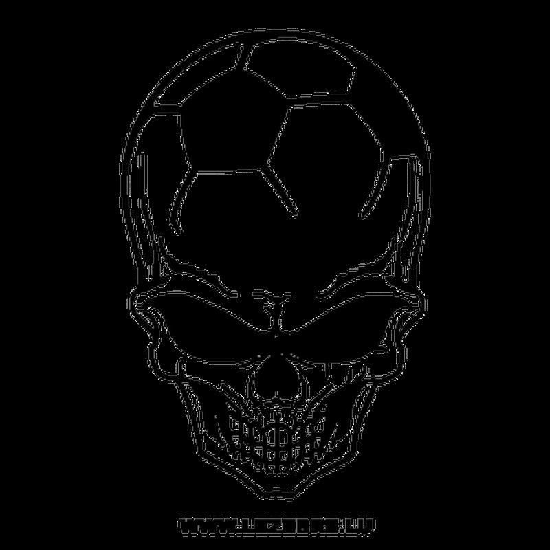 Football Skull Decal