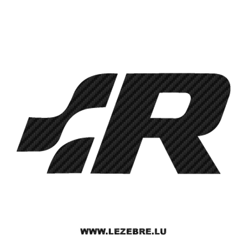 "VW Volkswagen ""R"" Racing Carbon Decal"